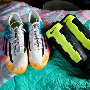 Adidas Soccer Cleat & Nike Shinguard Set